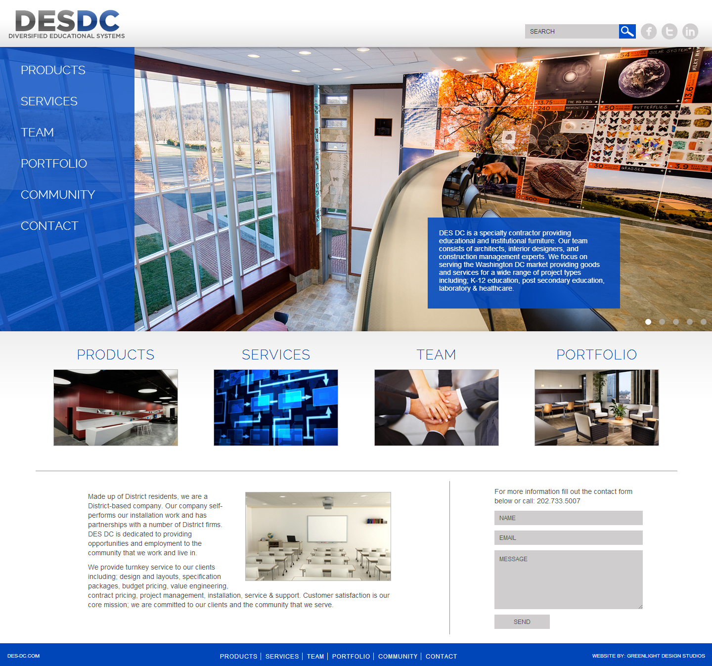 Click here to go to the company website - Click Here To View Site Des Dc Diversified Educational Systems